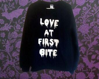 Customizable Love At First Bite Sweatshirt
