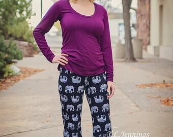 Portlander pant pattern Sizes xx-small, x-small, small, medium, large, xl, 2x, 3x