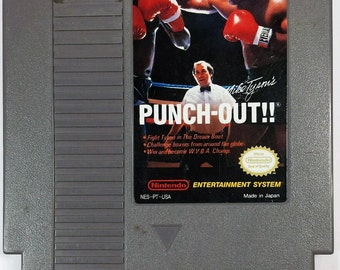 Vintage Nintendo NES Mike Tyson Punch Out Video Game Rare 1987