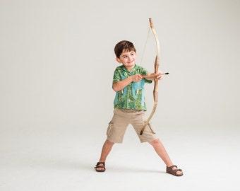 Boy's Shirt, Elephant Shirt, Boys Summer Top, Boys Dress Shirt, Boys Handmade Clothing