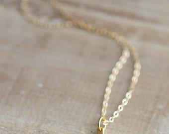Tiny Wishbone Necklace - Sterling Silver or Gold Filled- Layering Necklace - Good Fortune - Good Luck Charm