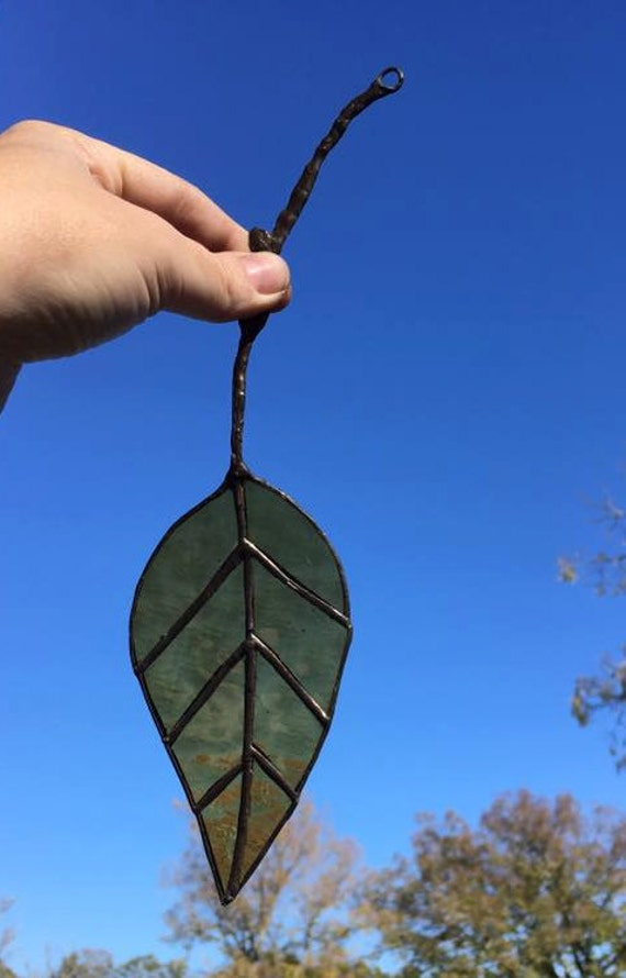 Stained Glass Fall Leaf