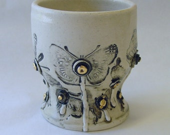 Bolted Butterfly Wine Cup with 22k gold