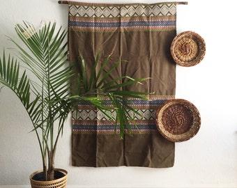 set of 3 nesting woven wicker wall baskets