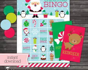 Christmas Bingo Cards Printable - Christmas Games - Instant Download - Christmas Activities - Christmas Printables - Christmas Party Game