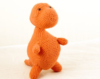 Toby the Tyrannosaurus Rex - T-Rex Dinosaur Crochet Pattern. Instant Download Digital Crochet Pattern.