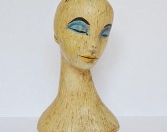 Vintage Mannequin Head Mid Century Retro 1960s