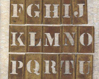 "1 1/2"" Letter Stencil Alphabet Brass Stencil Sold by the Each"