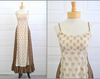 1970s Jody T Brown Prairie Sun Dress