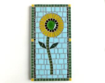 Daisy Flower Mosaic Wall Decor, 6x12 Mosaic Flower