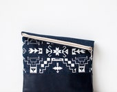 Tribal Pattern Printed  Leather Pouch Glitter No. ZP-1061