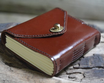 Old Times Leather Journal / Handmade / 6x4""
