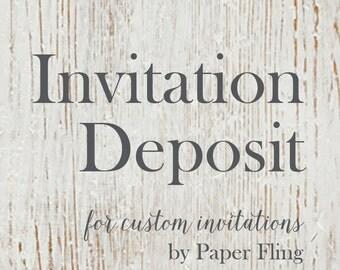 Custom Invitation Deposit