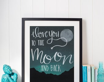 Hand Lettered Quote Art Print - 8x10