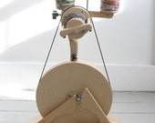 READY TO SHIP Spinolution Pollywog, Beginner Spinning Wheel, Built in Lazy Kate, 3 Bobbins Included, Travel Wheel, Hand Made