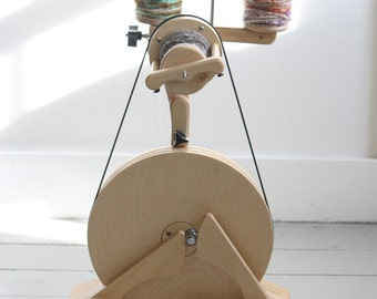 FREE US Shipping, Spinolution Pollywog, Beginner Wheel, Built in Lazy Kate, 3 Bobbins, Children's Wheel, Travel Wheel, Hand Made in the USA