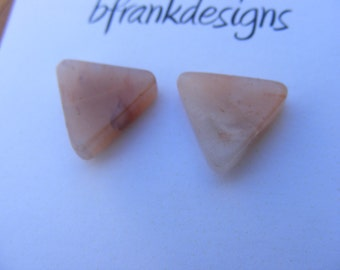 Vintage Agate Triangle Earrings