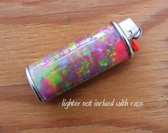LIGHTER CASE Fire Opal - Metal, Waterproof, Heavy duty, holder, wrap, smoking