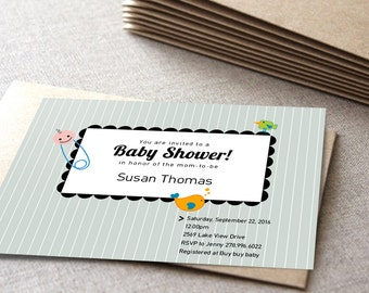 Printable baby shower invitation| DIY birthday card