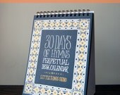 Set of 8 - 30 Days of Hymns Perpetual Desk Calendar