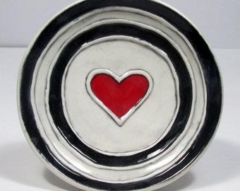 Valentine Gift Heart handmade  Wall decor  Ring dish  Ready to ship