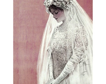 Bride Greeting Card | Harrison Fisher Marriage Notecard