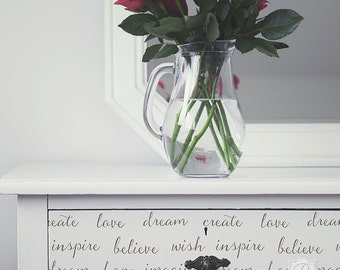 Dream On Lettering Furniture Stencil -Allover Stencil for Wall Decor