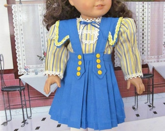 Historical Dress, Blouse, Pleated Skirt, 18 Inch  Doll Clothes