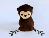 Otter Plushie. Stuffed Toy, Otter Softie, Little Plush Animal, Sea Otter Plush, Soft sculpture, Small Otter Doll, Cute Otter, Artist Plush
