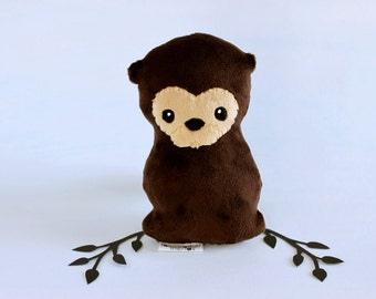 Otter Plushie. Stuffed Toy, Otter Softie, Little Plush Animal, Sea Otter Plush, Soft sculpture, Small Otter Doll, Cute Otter, Artist Plush