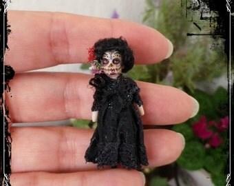 TINY DOLLY Catrina ooak miniature doll for 1:12 doll girls by Soraya Merino