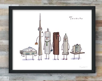 Toronto with Timbits- art print