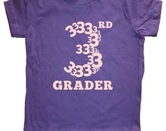 Third Grade Tshirt - 3rd Grader Shirt - Boys or Girls Back to School First Day of School Tshirt Top Tee - School Clothes - 3rd Grader