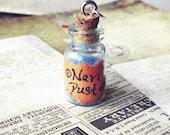 OOAK Navi Dust Bottle Charm Pendants -  Glitter - Legend of Zelda / Link-Inspired - Mini Fairy Glass Bottle Charms