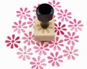Rubber Stamp Flower Burst - Hand Drawn Flower Stamp
