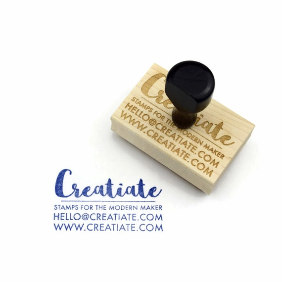 custom business card rubber stamp customized by creatiate