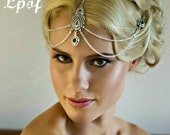 Bridal Headpiece Wedding Headpiece Hair Jewelry Head Jewellery Head Chain Headpiece Hair Accessory Bridesmaid Accessory Boho Headpiece Black