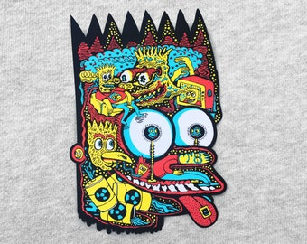 Head of Bart iron-on XL back patch