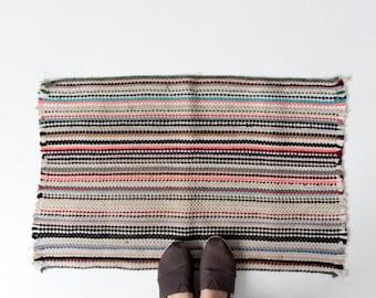 vintage rag rug, throw rug, kitchen or bedroom floor mat
