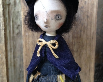 Magic Wand Goth Halloween Witch Folk Art Paperclay