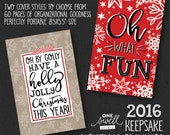 Christmas Planner - Holiday Organizer Daily December Planner Printed Christmas Organizer December Journal, Christmas, PREORDER