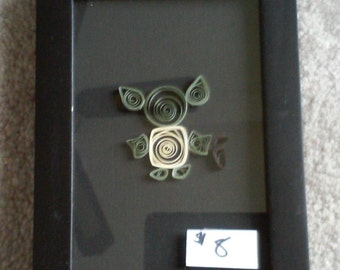 Yoda in quilling