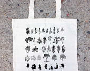 Tote Bag - Tree Diagram Illustrations - Cotton Canvas Tote Bag