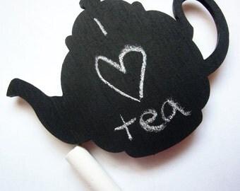 Tea Pot Magnet - Chalkboard Fridge Magnet - Refrigerator Magnet - Fun Tea Pot Magnets - Blank Fridge Magnet Blackboard - Kitchen Home Decor