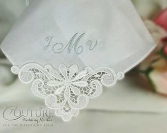 Mother of the Bride Wedding Handkerchief Hankie Personalized Hanky