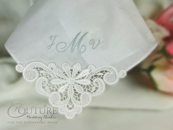 Mother of the Bride Wedding Handkerchief Hankie Personalized Hanky