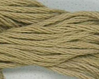 ONION SKIN : Classic Colorworks 6- strand embroidery floss hand overdyed thread Crescent Colours cross stitch