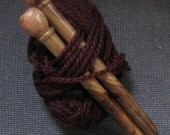 Large Wood Knitting Needles - Handmade, Size 35, Shedua wood