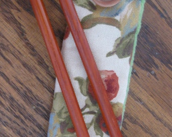 Padauk Knitting Needles - Handmade, Size 11, With Case