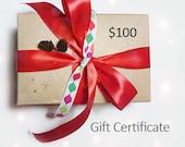 Gift Certificate - Value 100 US dollars - downloadable pdf file